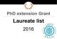 Selection of PhD extension Grants 2016